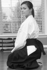 Aikido Woman, Seated