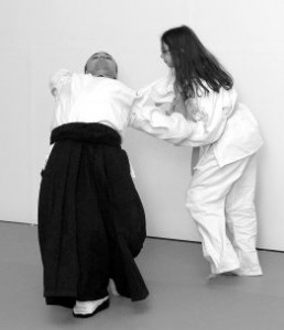 Aikido Student Throwing an Instructor